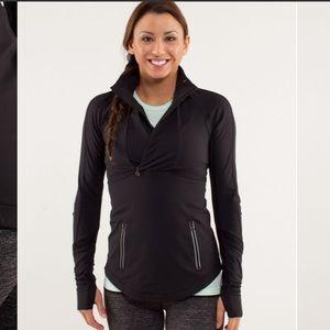 Lululemon Run:Reflect Black Pullover Size 6